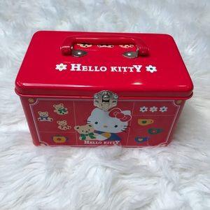 Hello Kitty Vintage Flip Top Red Tin